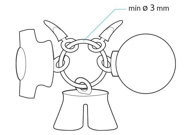 3D打印尼龙件串在环上